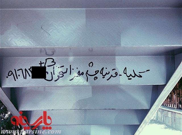 دیوار نوشتهی شوکه کننده در تهران! (+عکس) | سیتنادیوار نوشتهی شوکه کننده در تهران! (+عکس). سایت پارسینه عکسی از آگهی ...
