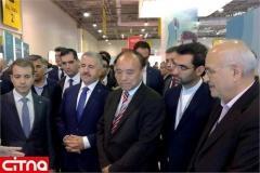 بازدید وزیر ارتباطات و فناوری اطلاعات از نمایشگاه باکوتل آذربایجان