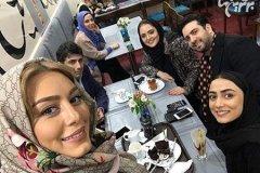 سلفی جمعی از ستاره های سینمای ایران در یک مهمانی