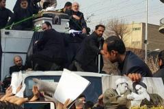عکس/ خودروی حامل پیکر آیت الله هاشمی رفسنجانی