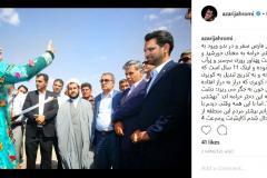 حضور وزیر ارتباطات در شهرستان خرامه استان فارس