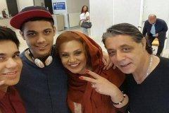 پست نسرین مقانلو و خوشحالی از بازگشت همسر و پسرانش از آمریکا