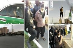 اعدام قاتل اراک با طناب زرد در ملاعام (+تصاویر)