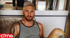 واکنش کاربران به رنگ عجیب موی لیونل مسی! (+عکس)