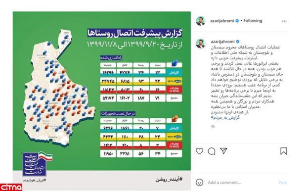 وزیر ارتباطات، عملکرد ایرانسل در سیستانوبلوچستان را «عالی» توصیف کرد