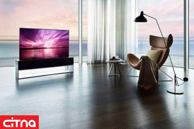 تلویزیون لوله شونده هم به بازار آمد