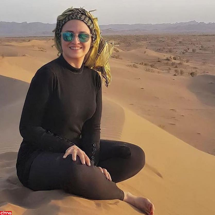 انتشار عکسی جنجالی از خانم بازیگر بی حاشیه
