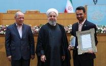 تجلیل دکتر روحانی از برگزیدگان پانزدهمین جشنواره شهید رجایی