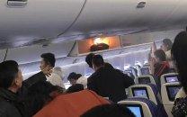انفجار پاوربانکی در هواپیمای چینی
