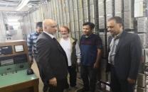 بازدید سرزدهی مدیرعامل شرکت مخابرات ایران از مرکز مخابراتی شهرستان محلات