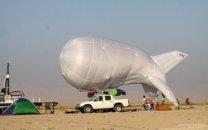 نصب بالن استراتسفر اینترنت در مرز مهران برای نخستین بار در خاورمیانه