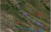 افزایش سه برابری مساحت پهنای رودخانهی سیمرهی لرستان پس از بارشهای سال جاری؛ خطر سیلاب برای روستاهای این محدوده