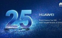 جهش بزرگ HUAWEI به رتبه 25 در رده بندی برند Brand Finance Global 500