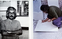 عکسی نایاب از رضا مافی، هنرمند بزرگ نقاشی و خط که در جوانی درگذشت
