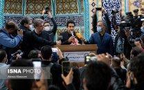 صحبتهای همایون شجریان در مراسم تشییع پدرش در تهران