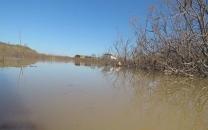 انفجار در دهانه رودخانه قره سو برای تخلیه سیلاب گلستان