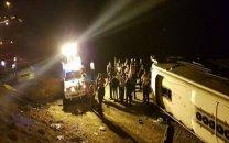 عامل واژگونی اتوبوس تهران-گنبد مشخص شد