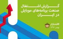 آمار کافه بازار از اشتغال اپلیکیشن های صنعت موبایلی در ایران