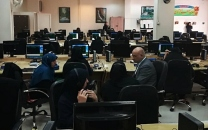بازدید سرزدهی مدیرعامل شرکت مخابرات از یک مرکز مخابراتی در تعطیلات نوروز