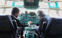 عکس آذری جهرمی و ستاری در کابین هواپیما؛ در حاشیهی آغاز احداث پارک اقتصاد دیجیتال پردیس
