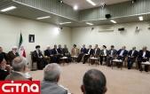 تصاویر/ دیدار رئیسجمهور و اعضای هیأت دولت با مقام معظم رهبری