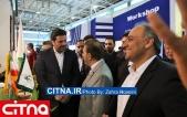 گزارش تصویری سیتنا/ بازدید دکتر واعظی از سالن شرکت مخابرات ایران در نمایشگاه تلکام