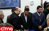 بازدید وزیر ارتباطات از غرفهی دانشکدهی پست و مخابرات در نمایشگاه اینترنت اشیاء