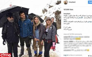 حاشبه های انتشار عکس جنجالی کوهنوردی حسن روحانی!