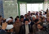 فیلم/ ورود رئیسی به مسجد ارشاد شهر ری برای شرکت در انتخابات
