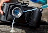 تولید دوربینی که لنزش با آب پر میشود!