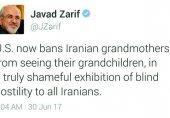 واکنش توئیتری ظریف به اجرای فرمان نژادپرستانه ترامپ