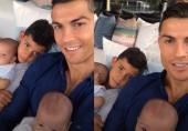 """اولین ویدیوی """"رونالدو"""" و سه فرزندش در لایو اینستاگرام"""