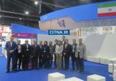 عکس یادگاری اعضای پاویون ایران نمایشگاه بانکوک با دبیرکل ITU