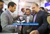 گزارش تصویری سیتنا/ بازدید وزیر ارتباطات از غرفه دانشکده پست و مخابرات در نمایشگاه تلکام
