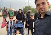 وزیر ارتباطات همراه با خانوادهاش در پیادهروی اربعین (+عکس)