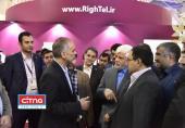 بازدید دکتر عارف از غرفهی رایتل در نمایشگاه ایران تلکام 2017