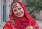 عکس خاله شادونه با پوشش چادر در صحن حرم رضوی