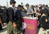 بهرهمندی زوار اربعین از سرویس وای.فای رایگان رایتل در مرزهای عراق