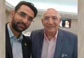 دیدار آذری جهرمی با حشمت مهاجرانی در دبی