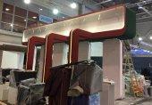 تصاویر/ روند آمادهسازی پاویون ملی ایران در نمایشگاه تلکام بوداپست